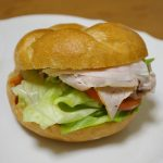 ロースハムのサンドイッチ