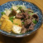 減塩 牛肉と厚揚げのすき焼き風煮物レシピ